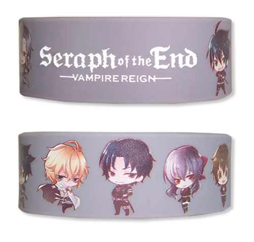 Seraph Of The End - Sd Group Pvc Wristband, an officially licensed product in our Seraph Of The End Wristbands department.