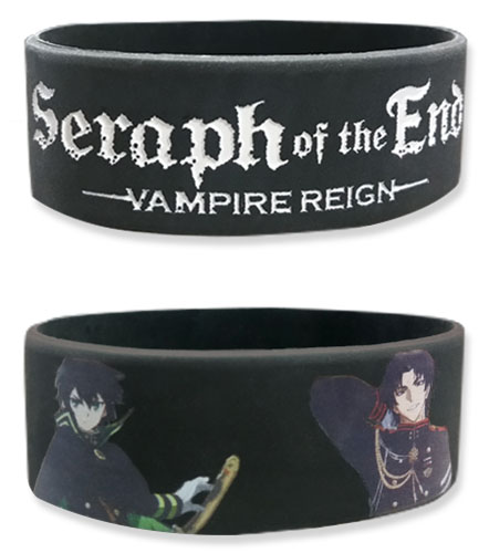 Seraph Of The End - Yuichiro, Mikaela & Guren Pvc Wristband, an officially licensed product in our Seraph Of The End Wristbands department.