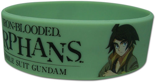 Gundam Iron-Blooded Orphans - Orga & Mikazuki Pvc Wristband, an officially licensed product in our Gundam Iron-Blooded Orphans Wristbands department.