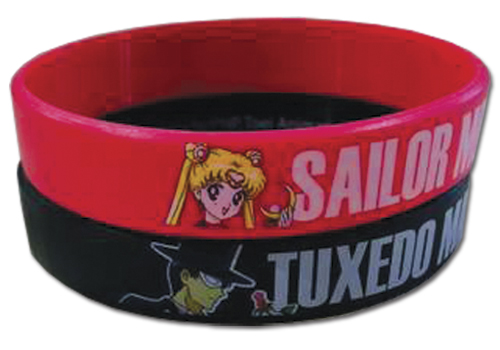 Sailor Moon - Sailor Moon And Tuxedo Mask Pvc 2 Pack Wristband, an officially licensed product in our Sailor Moon Wristbands department.