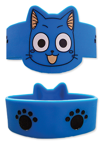 Fairy Tail - Happy Pvc Wristband officially licensed Fairy Tail Wristbands product at B.A. Toys.
