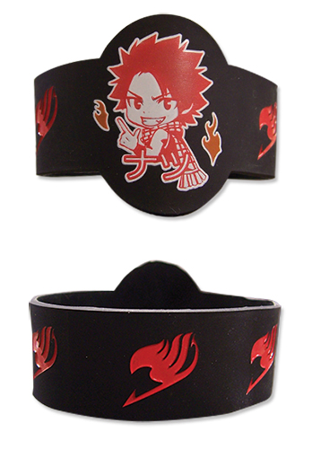 Fairy Tail - Natsu Pvc Wristband officially licensed Fairy Tail Wristbands product at B.A. Toys.