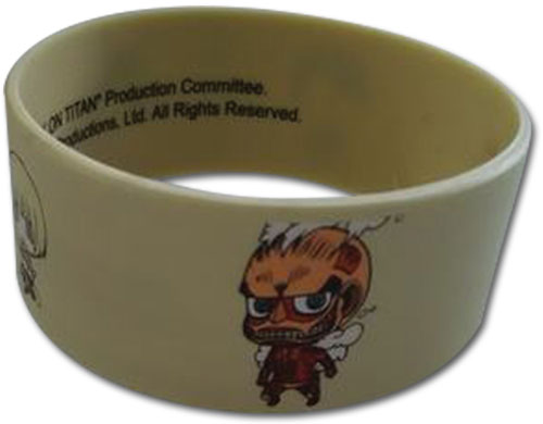 Attack On Titan - Sd Group & Titan Pvc Wristband, an officially licensed Attack On Titan product at B.A. Toys.
