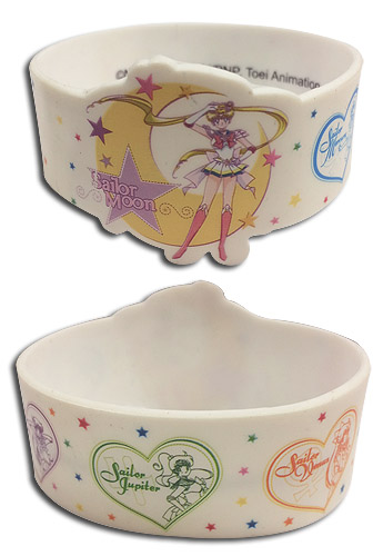 Sailor Moon Supers - Group Pvc Wristband officially licensed Sailor Moon Wristbands product at B.A. Toys.