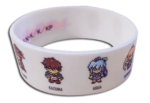 Konosuba - Pixel Group Pvc Wristband officially licensed Konosuba Wristbands product at B.A. Toys.