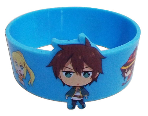Konosuba - Group Pvc Wristband officially licensed Konosuba Wristbands product at B.A. Toys.