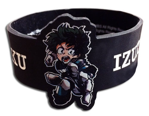 My Hero Academia - Deku Pvc Wristband officially licensed My Hero Academia Wristbands product at B.A. Toys.