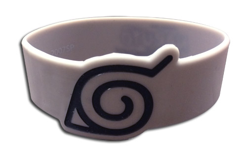 Naruto Shippuden - Leaf Village Symbol Pvc Wristband officially licensed Naruto Shippuden Wristbands product at B.A. Toys.