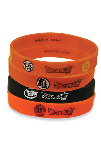 Dragon Ball Super - Dbs Logo Multi 4-Pack Pvc Wristband officially licensed Dragon Ball Super Wristbands product at B.A. Toys.