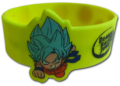 Dragon Ball Super - God Goku Sd Pvc Wristband officially licensed Dragon Ball Super Wristbands product at B.A. Toys.