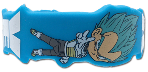 Dragon Ball Super - Ss Blue Vegeta Pvc Wristband officially licensed Dragon Ball Super Wristbands product at B.A. Toys.