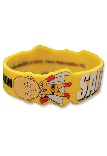 One Punch Man - Sd Saitama Pvc Wristband officially licensed One-Punch Man Wristbands product at B.A. Toys.