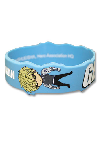 One Punch Man - Sd Genos Pvc Wristband, an officially licensed product in our One-Punch Man Wristbands department.