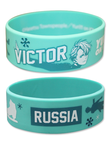 Yuri On Ice!!! - Victor Pvc Wristband officially licensed Yuri!!! On Ice Wristbands product at B.A. Toys.