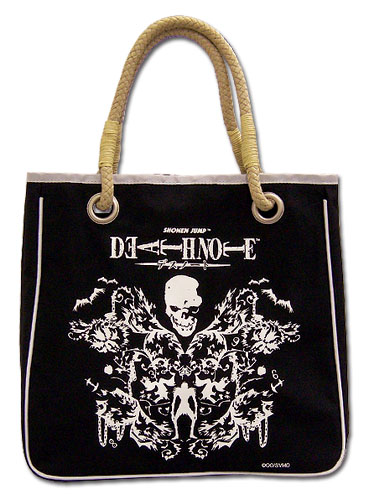 Death Note Ryuk Skull Tote Bag, an officially licensed product in our Death Note Bags department.