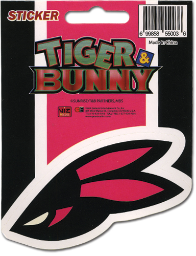 Tiger & Bunny Logo Sticker, an officially licensed product in our Tiger & Bunny Stickers department.