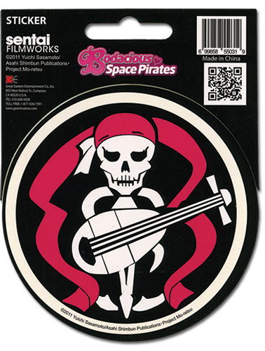 Bodacious Space Pirates Bentenmaru Flag Sticker, an officially licensed Bodacious Space Pirates product at B.A. Toys.