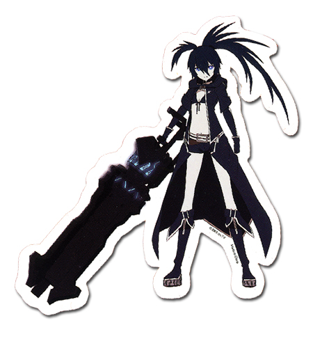 Black Rock Shooter Black Rock Shooter Sticker, an officially licensed Black Rock Shooter product at B.A. Toys.