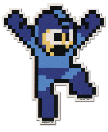 Megaman 10 Jumping Mega Man Sticker, an officially licensed product in our Mega Man Stickers department.