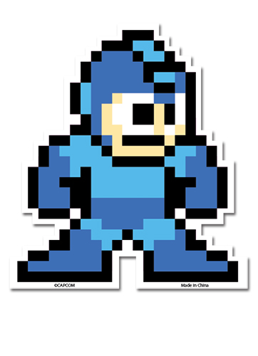 Mega Man 10 - Standing Sticker, an officially licensed product in our Mega Man Stickers department.