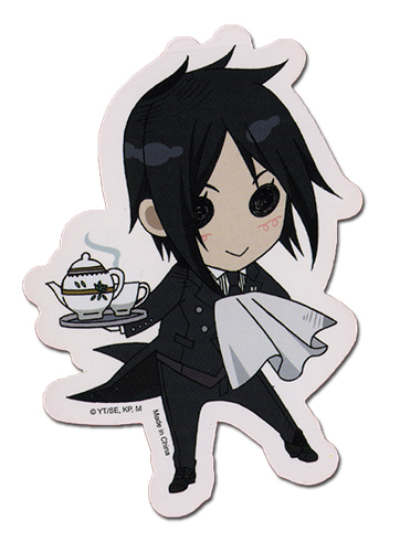 Black Butler Sebastian Sticker officially licensed product at B.A. Toys.