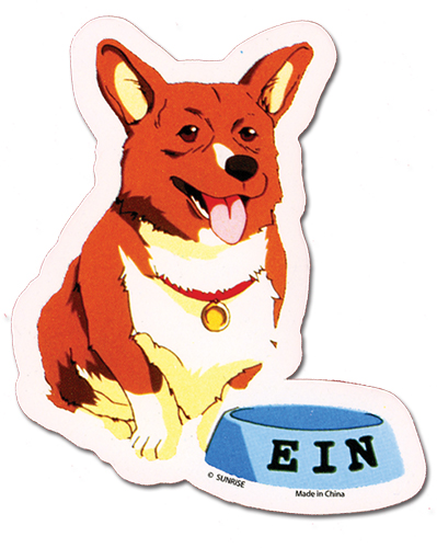 Cowboy Bebop Ein Sticker, an officially licensed Cowboy Bebop Sticker