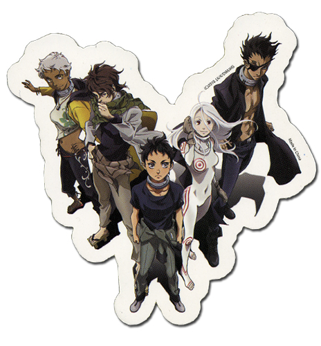 Deadman Wonderland Group Sticker, an officially licensed Deadman Wonderland Sticker