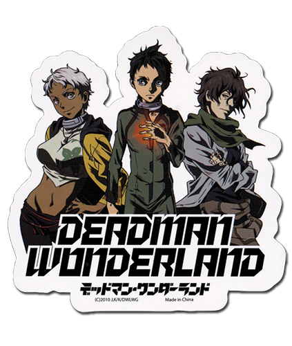 Deadman Wonderland Ganta, Nagi, Karako Sticker, an officially licensed product in our Deadman Wonderland Stickers department.