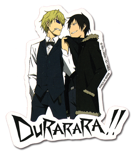 Durarara!! Izaya & Shizuo Sticker, an officially licensed product in our Durarara!! Stickers department.