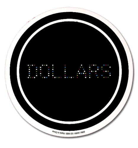 Durarara!! Dollars Sticker, an officially licensed product in our Durarara!! Stickers department.