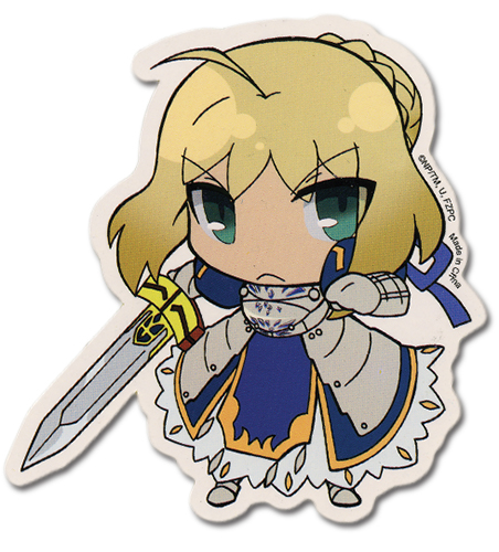 Fate/zero Saber Sticker officially licensed Fate/Zero Stickers product at B.A. Toys.