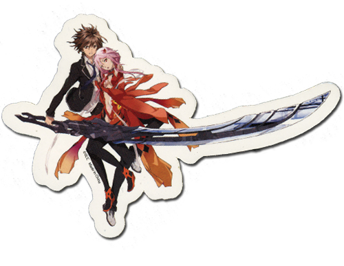 Guilty Crown Ouma & Yuzuriha Sticker, an officially licensed product in our Guilty Crown Stickers department.