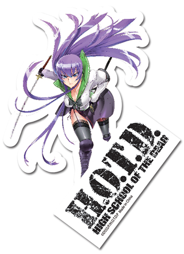 High School Of The Dead Saeko Sticker, an officially licensed product in our Everything Else Stickers department.