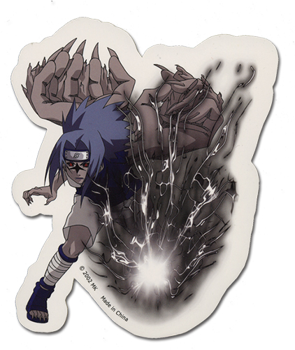 Naruto Sasuke Cursed Sticker, an officially licensed product in our Naruto Stickers department.