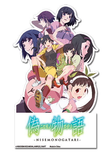 Nisemonogatari Group Sticker, an officially licensed product in our Nisemongatari Stickers department.