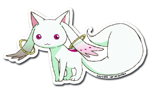 Madoka Magica - Kyubi Die Cute Sticker, an officially licensed product in our Madoka Magica Stickers department.