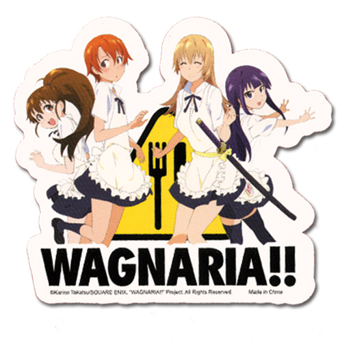 Wagnaria Group Sticker, an officially licensed product in our Wagnaria!! Stickers department.