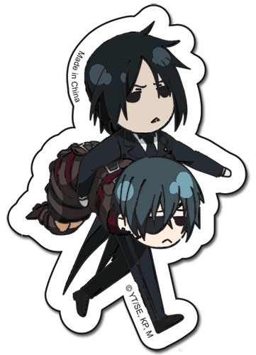 Black Butler Sebastian & Ciel Sticker officially licensed product at B.A. Toys.