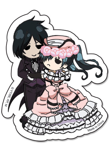 Black Butler Sebastain & Ciel Dance Sticker officially licensed product at B.A. Toys.