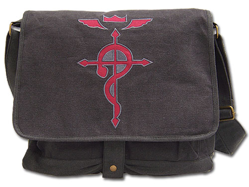 Fullmetal Alchemist Brotherhood Flamel's Cross Messenger Bag, an officially licensed product in our Fullmetal Alchemist Bags department.