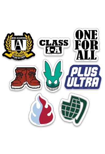 My Hero Academia - Symbols Die-Cut Sticker Set, an officially licensed product in our My Hero Academia Stickers department.