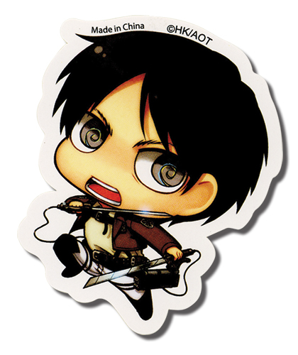 Attack On Titan - Sd Eren Sticker, an officially licensed product in our Attack On Titan Stickers department.