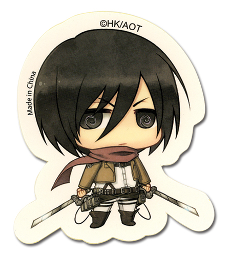 Attack On Titan - Sd Mikasa Sticker, an officially licensed product in our Attack On Titan Stickers department.