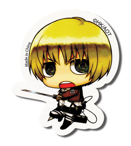 Attack On Titan - Sd Armin Sticker, an officially licensed product in our Attack On Titan Stickers department.