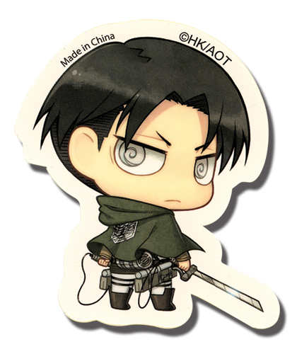 Attack On Titan - Sd Levi Sticker, an officially licensed Attack On Titan product at B.A. Toys.
