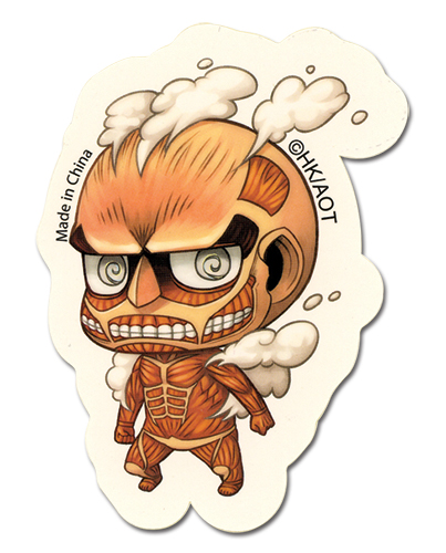 Attack On Titan - Sd 50M Titan Sticker, an officially licensed Attack On Titan product at B.A. Toys.