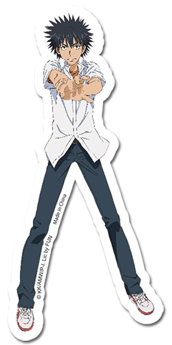 A Certain Magical Index Touma Sticker officially licensed product at B.A. Toys.