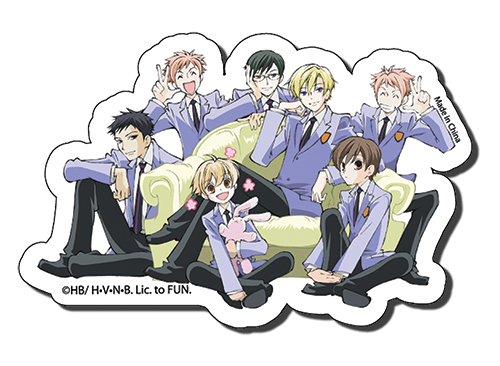 Ouran High School Host Club - Group 2 Die Cut Sticker, an officially licensed product in our Ouran High School Host Club Stickers department.