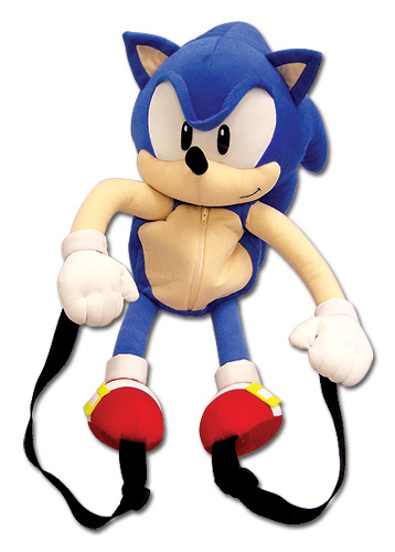 Sonic Classic Sonic Plush Backpack, an officially licensed product in our Sonic Bags department.