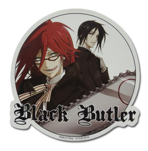 Black Butler - Grell & Sebastian Sticker, an officially licensed Black Butler product at B.A. Toys.
